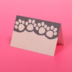 【10枚セット】肉球二つ折りミニギフトカード【アメリカ直輸入】