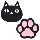 【猫3兄弟】フェルトコースター2Pセット【猫柄】【肉球グッズ猫雑貨】