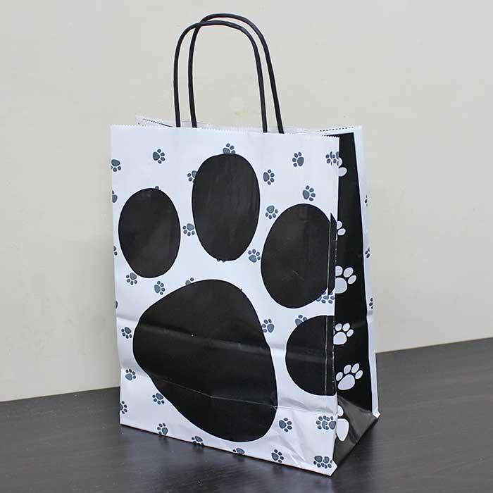 【ホワイトタイプ】肉球紙袋5枚(小)【ギフト用】
