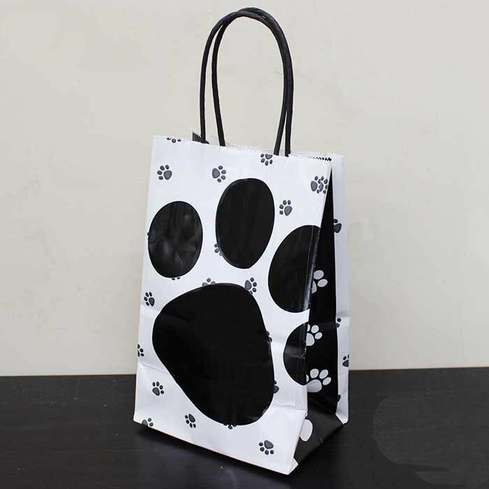 【ホワイトタイプ】肉球紙袋10枚セット(ミニ)【ギフトに】