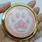 【キャットシンフォニカ】にくきゅうコンパクトミラー【肉球鏡猫雑貨犬雑貨】