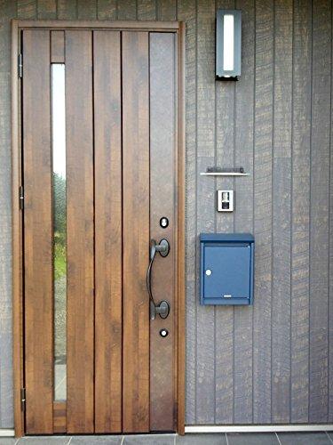 【ポスト】郵便ポスト郵便受け壁付け壁掛け鍵付きおしゃれブラバンシアポストB110+レバーハンドルカチャっと!セット