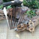 かんざし l 木製 簪 ウッド 木 天然素材 羽根 翼 シェル 貝 六芒星 1本挿し ナチュラル シンプル 小粋 ヘアアレンジ …