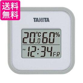 ★お買い物マラソン中はポイント最大24.5倍!!★タニタ 温湿度計 TT-558 GY 温度 湿度 デジタル 壁掛け 時計付き 卓上 マグネット グレー 送料無料