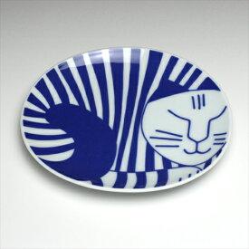 リサラーソン / Lisa Larson ごのねこ 豆皿 しまねこ 有田焼 かわいい猫(ねこ)北欧食器 お皿 おしゃれ 可愛い