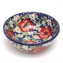 ポーランド食器 マヌファクトゥラ社 ボウル M 中鉢 M133-ALC105 フラワー / 花柄 ポーリッシュポタリー (ボレスワヴ…
