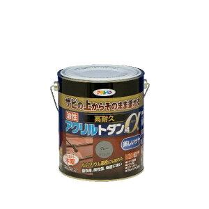 アサヒペン [取寄7]油性高耐久アクリルトタン用α 1.6kg グレー [4970925539168]