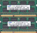 SAMSUNG PC3-8500S (DDR3-1066) 2GB x 2枚組み 合計4GB 動作保証品【中古】