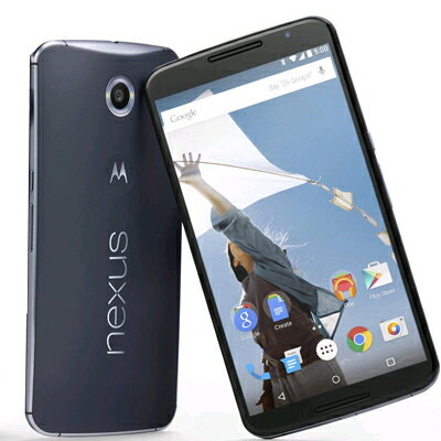 SIMフリー Google Nexus 6 32GB Midnight Blue [XT1100 SIMフリー][中古Bランク]【当社3ヶ月間保証】 スマホ 中古 本体 送料無料【中古】 【 中古スマホとタブレット販売のイオシス 】