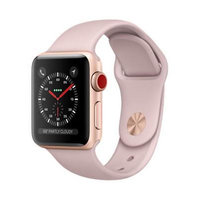 【送料無料】当社1ヶ月間保証[中古Aランク]■Apple Apple Watch Series 3 GPS+Cellularモデル 38mm MQKH2J/A 【ゴールドアルミニウム/ピンクサンドスポーツバンド】【周辺機器】中古【中古】 【 中古スマホとタブレット販売のイオシス 】