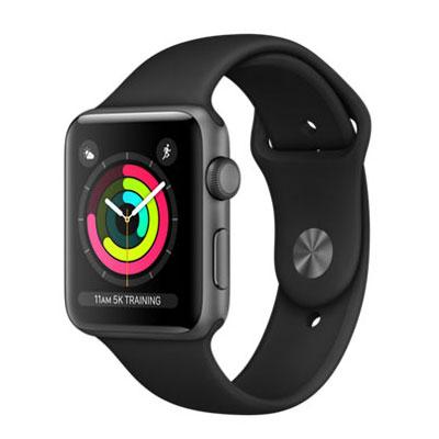 【送料無料】当社1ヶ月間保証[中古Bランク]■Apple Apple Watch Series 3 GPSモデル 42mm MQL12J/A 【スペースグレイアルミニウム/ブラックスポーツバンド】【周辺機器】中古【中古】 【 中古スマホとタブレット販売のイオシス 】