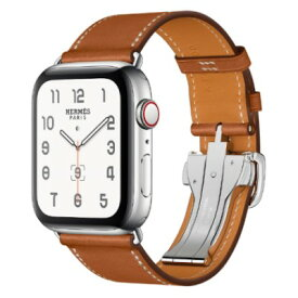 Apple Apple Watch Hermes Series4 44mm GPS+Cellularモデル MUH02J/A A2008【ステンレススチールケース/シンプルトゥールディプロイアントバックル ヴォー・バレニア(フォーヴ)レザーストラップ】 [中古] 【