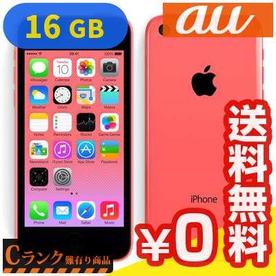 白ロム au iPhone5c 16GB (ME545J/A) Pink[中古Cランク]【当社1ヶ月間保証】 スマホ 中古 本体 送料無料【中古】 【 中古スマホとタブレット販売のイオシス 】
