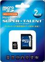 microSD ST02MSDA(SuperTalent・2GB・SD変換アダプタ付・安心の3年保証)
