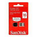 USB SDCZ33-016G-B35(SanDisk Cruzer Fit・超小型キャップ式USBメモリ・16GB)