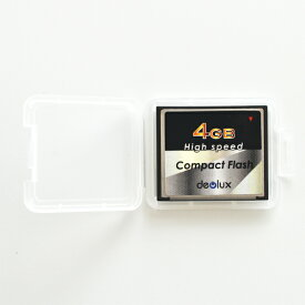 CF Deolux 4GB(品質もなかなか良い台湾製コンパクトフラッシュカード・ミニケース付)