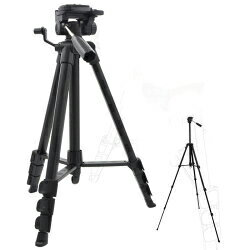 4段アルミ【大型三脚】レバーロック式・155cm・カメラやビデオカメラの撮影に