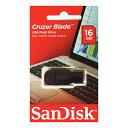 SanDisk・16GB【USBメモリSDCZ50-016G-B35】Cruzer Blade・キャップレス
