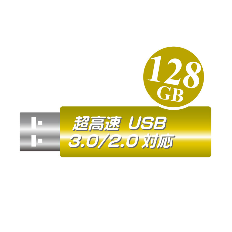 一流メーカー・USB3.0対応品【高速USBメモリ128GB】1年保証・USB2.0で使っても高速