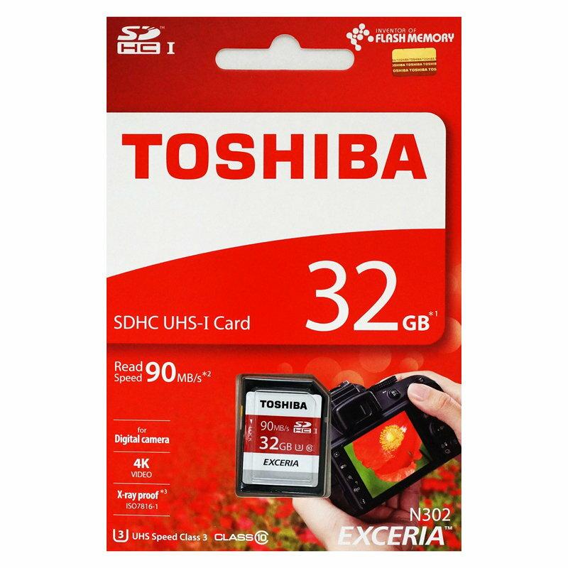 日本製のみ厳選!東芝32GB【SDHCカードTHN-N302R0320A4】Read=90MB/s・UHS-I対応クラス3