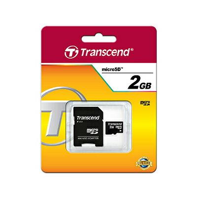トランセンド2GB【microSDカードTS2GUSD】SDアダプタ付・Transcend