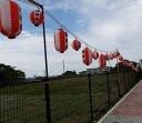 お祭りコード50灯1m間隔、省エネLED電球(広角度)50w相当品使用、東日本、熊本震災者は特別割引あり