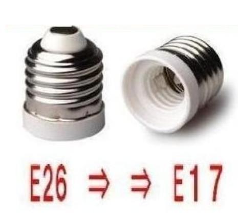 口金変換アダプターE26⇒E17に簡単に変換、10個セット、日本最安値に挑戦!!