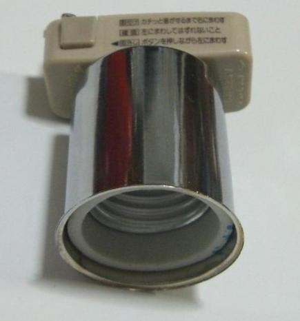 引っかけシーリングライト、ソケット陶器製、カバー金属スチール製、耐圧、耐熱抜群