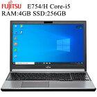 富士通 E754 第四世代Core-i5 4GBメモリ 新品SSD256GB 正規品Office付き 15.6インチワイド 無線、Bluetooth内蔵 USB3.0 HDMI 中古パソコン Win10 ノートパソコン Windows10 Pro 64bit FMV