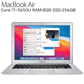MacBook Air 第五世代Core i7-5650U RAM:8GB SSD:256GB 11.6インチ液晶 11.0 Big Sur Early-2015 EMC 2925 MacBookAir7,2 アップル 中古ノートパソコン 中古ノートPC A1466 Apple