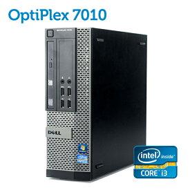 デル DELL OptiPlex 7010 SFF 第三世代 Core-i3 4GBメモリ 大容量500GB 正規版Office付き USB3.0 光学ドライブ DisplayPort 中古パソコン Win10 デスクトップ Windows10 Windows7