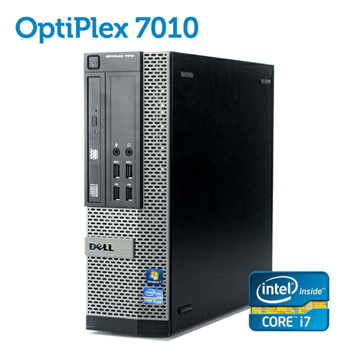 デル DELL OptiPlex 7010 SFF 【第三世代 Core i7-3770 4GBメモリ 大容量500GB USB3.0 光学ドライブ DisplayPort 正規版Office付き】 中古パソコン Win10 デスクトップ Windows10 Windows7【あす楽】