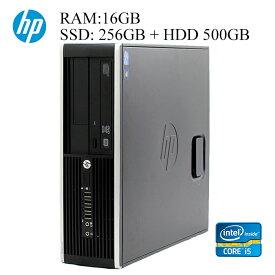 在宅勤務対応 HP 第三世代Core-i5 16GBメモリ SSD256GB+HDD500GB 正規版Office付き ハイブリッド 中古パソコン デスクトップ eスポーツ Windows10 6300/8300 Elite SFFモデル