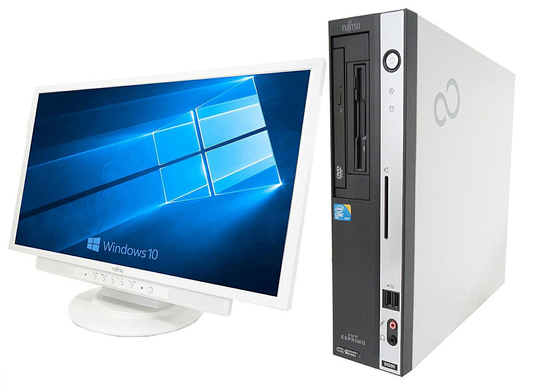 【ポイント最大10倍!】FMV D550 Core2Duo 2.93GHz 4GBメモリー 160GB ドライブ 中古デスクトップパソコン 22インチ液晶セット WPS Office付き リカバリー領域 Windows10 Win10フェア ★【エントリーでランク別ポイントGET!9日10:00〜12日9:59】