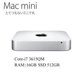 Apple Mac mini A1347 Core i7-3615QM 2.3GHz 16GBメモリ 新品SSD512GB アップル 10.14Mojave 中古パソコン 中古デスクトップパソコン Mac mini 6,2 EMC 2570 MD388LL/A Late 2012