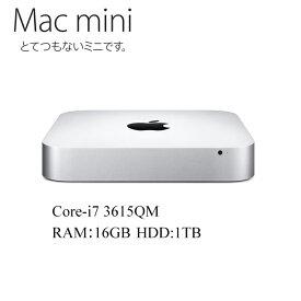Mac mini Core i7-3615QM 2.3GHz RAM:16GB HDD:1TB アップル 10.15Catalina A1347 中古パソコン 中古デスクトップパソコン Mac mini 6,2 EMC 2570 MD388LL/A Late 2012 Apple