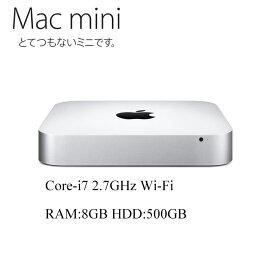 Mac mini Core i7-2620M 2.3GHz RAM:8GB HDD:500GB アップル 10.13High Sierra A1347 中古パソコン 中古デスクトップパソコン Mac mini5,2 EMC2442 Apple