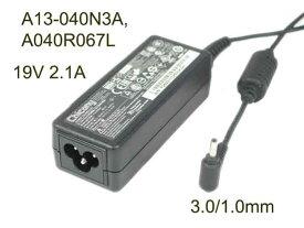 新品純正 Chicony 19V 2.1A 40W A13-040N3A プラグ(ご注意):3.0MM*1.0MMタイプ