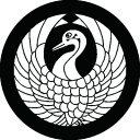 家紋シール 森蘭丸 鶴の丸 布タイプ 直径23mm 6枚セット NS23-2388-01