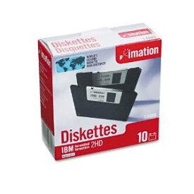 【あす楽】イメーション MF2HD 黒 10枚組紙箱 3.5型 WINDOWS・DOS/V対応 フロッピーディスク 【051111128817】