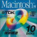 TDK Macintosh用 3.5インチフロッピーディスク 10枚パック MF2HD-MCX10PS 【4902030055851】