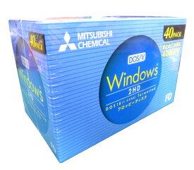 三菱化学 2HDV40EC Windows DOS18フォーマット 2HD 40枚入フロッピーディスク 【4991348047986】