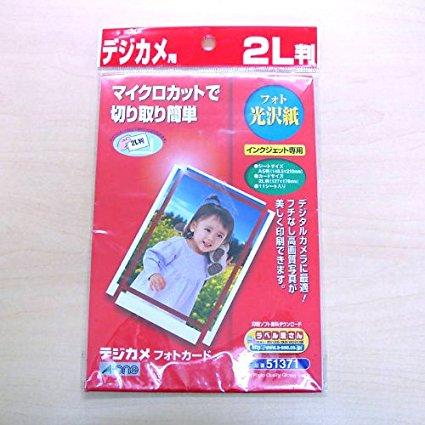 【送料無料クリックポスト発送】エーワン 51371 デジカメフォトカード フォト光沢紙 2L判