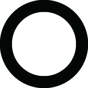【送料無料】家紋シール 黒餅 丸型10cm or 四角10cm 2枚セット KS10-1233
