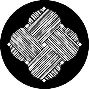 【送料無料】家紋シール 糸巻紋 丸型4cm or 四角4cm 4枚セット KS44-3567
