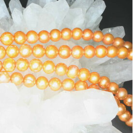 【壊れにくい高品質タイプ】★連売り★丸珠 淡水パール 金色[Pearl] 約8mm 《kos-pearrmar08go00》[ミミレ]【クリスタル神戸】