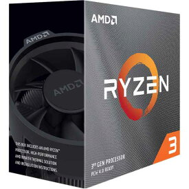 AMD Ryzen 3 3100 ソケットAM4 3.6GHz 4コア With Wraith Stealth cooler (4C8T,3.6GHz,65W)|100-100000284BOX
