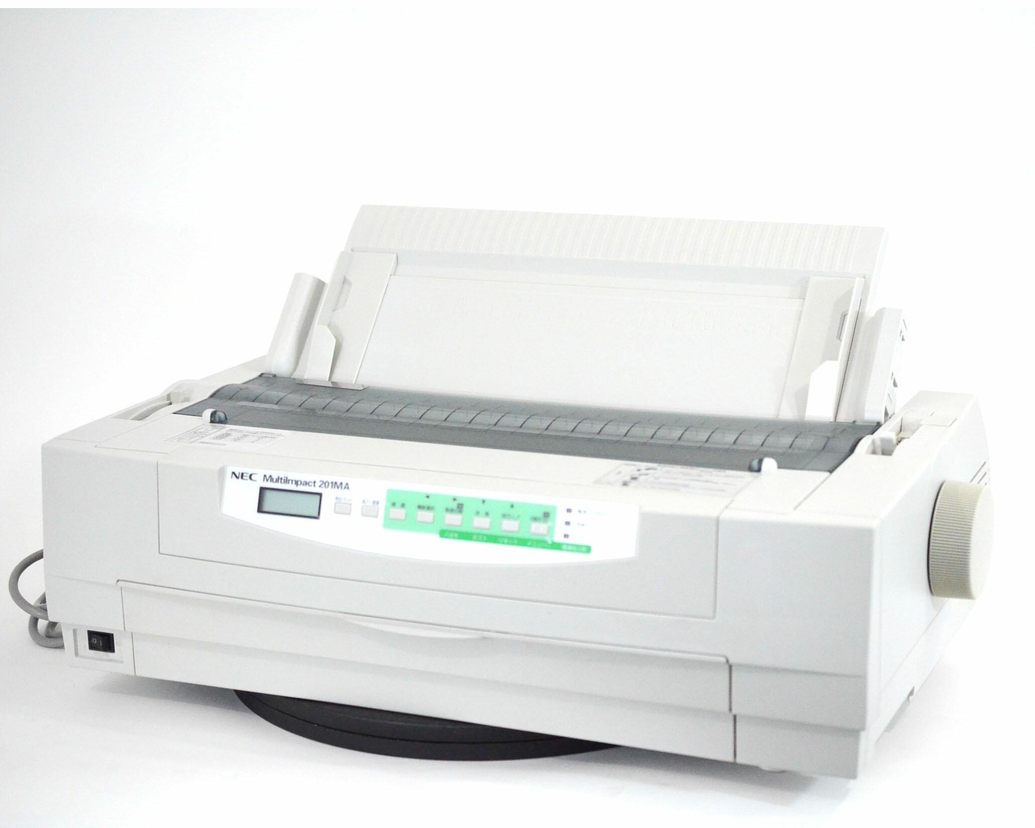 【中古】NEC ドットプリンター MMultiImpact201MA 伝票 複写 ラウンド型