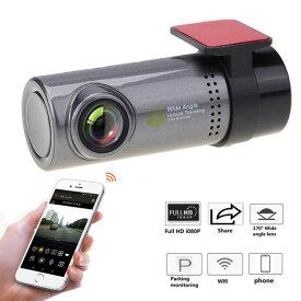 mini WIFI FULL HDドライブレコーダー スマホ 連携型 高画質ループ録画 無線 ドライブ 旅 動画 モーション Gセンサー iPhone Android galaxy xperiaなど対応