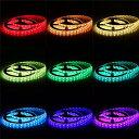 【送料無料】イルミネーション LEDテープライト 5M 150連 SMD5050 5M/150LED  5M/300LEDテープ型 正面発光 RGB リモコン操...